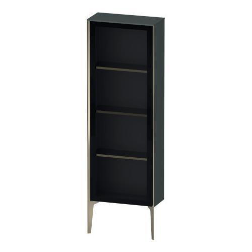 Duravit - Semi-tall Cabinet With Mirror Door Floorstanding, Dolomiti Gray High Gloss (lacquer)