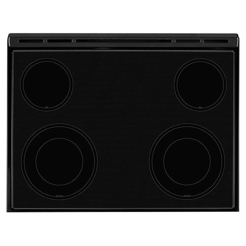 SCRATCH & DENT 4.8 cu. ft. Guided Electric Front Control Range With The Easy-Wipe Ceramic Glass Cooktop