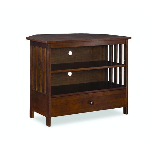 John Thomas Furniture - Mission Corner TV Stand in Espresso