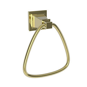 Uncoated Polished Brass - Living Towel Ring