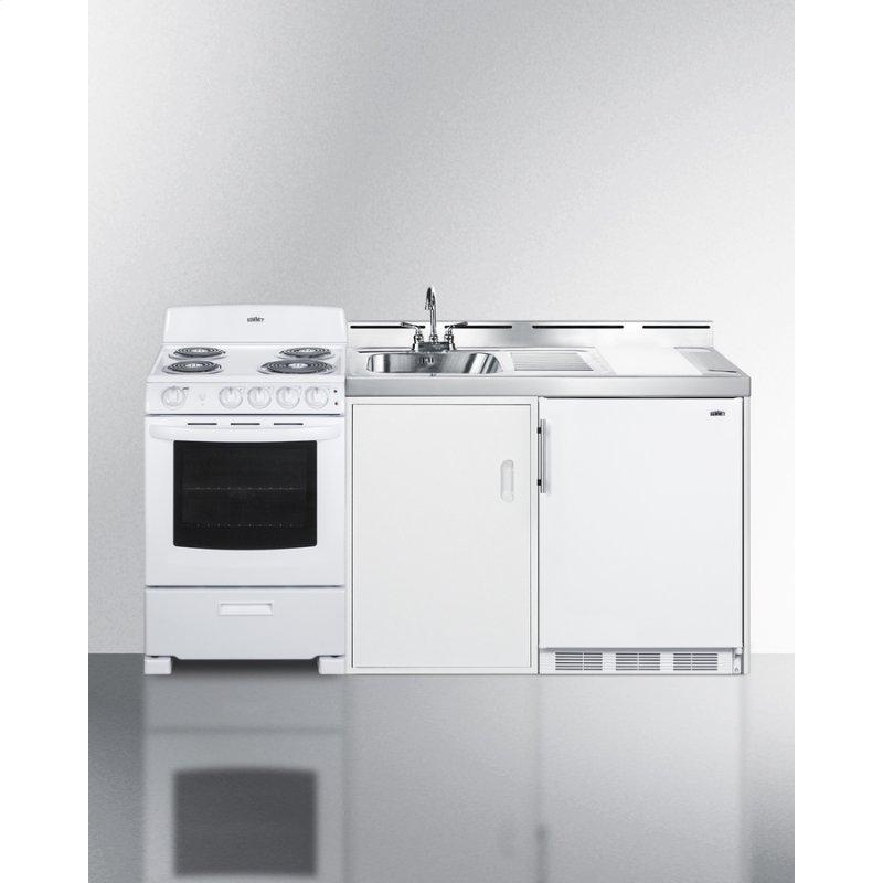 """72"""" Wide All-in-one Kitchenette With Electric Coil Range"""