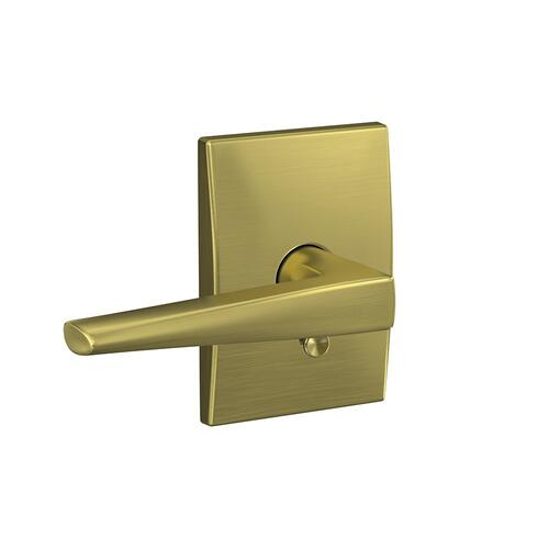 Custom Eller Lever with Century Trim Hall-Closet and Bed-Bath Lock - Satin Brass