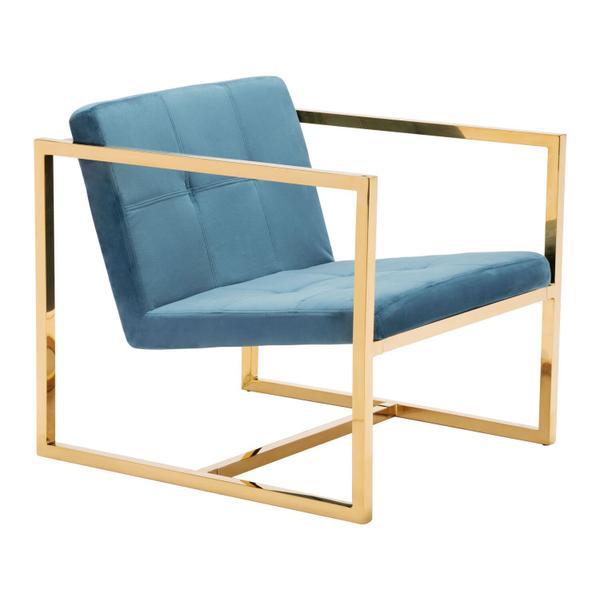 See Details - Alt Arm Chair Blue & Gold