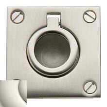 Polished Nickel Flush Ring Pull