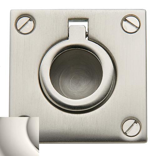 Baldwin - Polished Nickel Flush Ring Pull