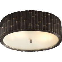 Alexa Hampton Frank 3 Light 15 inch Gun Metal Flush Mount Ceiling Light
