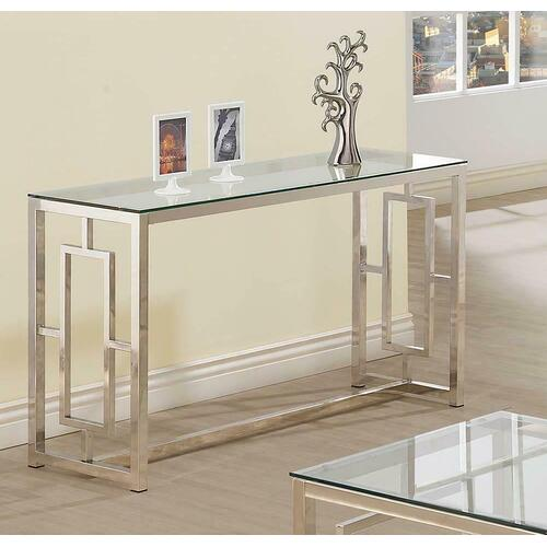 See Details - Occasional Contemporary Nickel Sofa Table