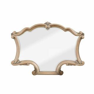 ACME Teagan Mirror - 63097 - Traditional - Wood (Poplar), Wood Veneer (Pine), Poly-Resin Moldings, MDF - Oak