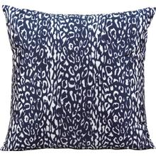 "Outdoor Pillows As524 Navy 20"" X 20"" Throw Pillow"