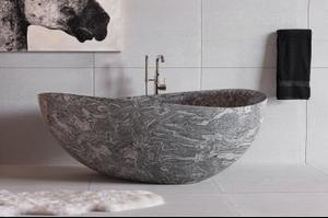 Papillon Bathtub Cumulo Granite Product Image