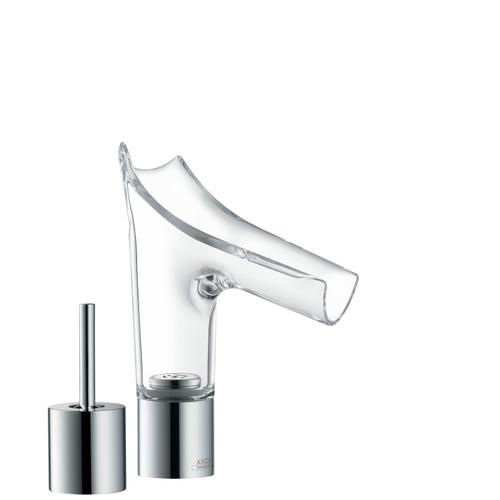 Brushed Brass 2-hole basin mixer 110 with waste set