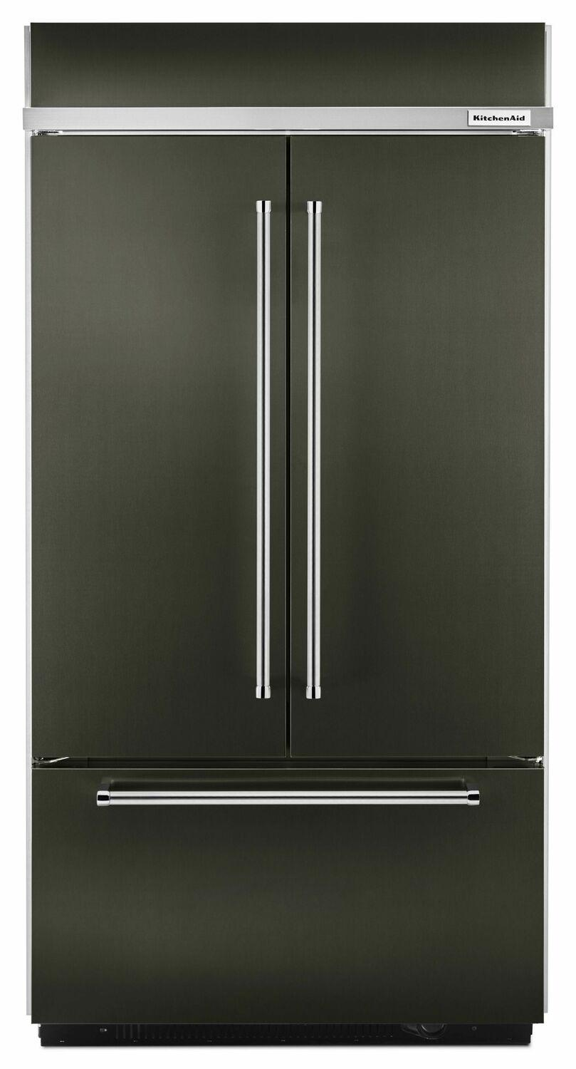 """KitchenAid24.2 Cu. Ft. 42"""" Width Built-In Stainless French Door Refrigerator With Platinum Interior Design - Black Stainless Steel With Printshield™ Finish"""