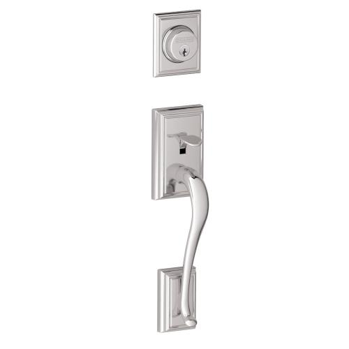 Addison Inactive Handleset and Accent Lever - Bright Chrome