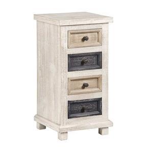 Progressive Furniture - 4 Drawer Chairside Chest - Earth Tones Finish