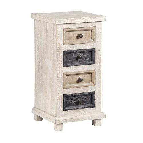 4 Drawer Chairside Chest - Earth Tones Finish
