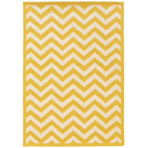 Silhouette Chevron Yellow 8x10