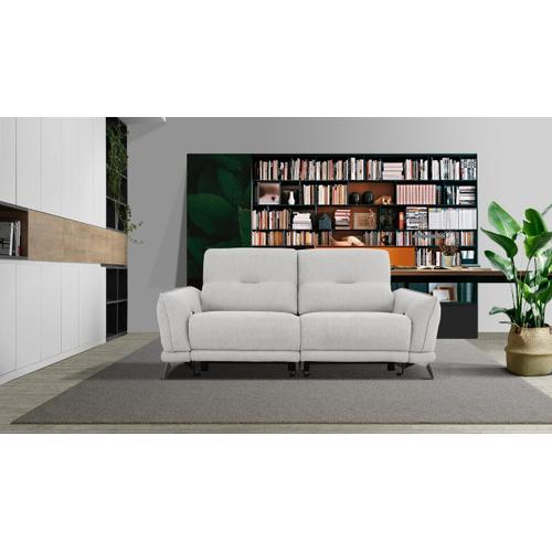 VIG Furniture - Divani Casa Austria - Modern Grey 3-Seater Fabric Sofa w/ Electric Recliners