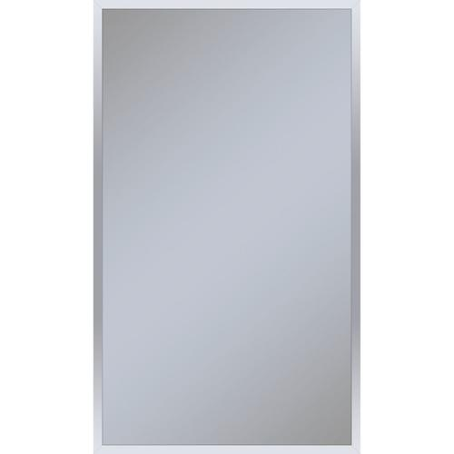 """Profiles 23-1/4"""" X 39-3/8"""" X 6"""" Framed Cabinet In Chrome With Electrical Outlet, Usb Charging Ports, Magnetic Storage Strip and Right Hinge"""