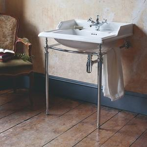 """Crosswater - Classic 25"""" Console Set - 1 Faucet Hole, Polished Chrome"""
