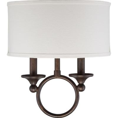 See Details - Adams Wall Sconce in Leathered Bronze