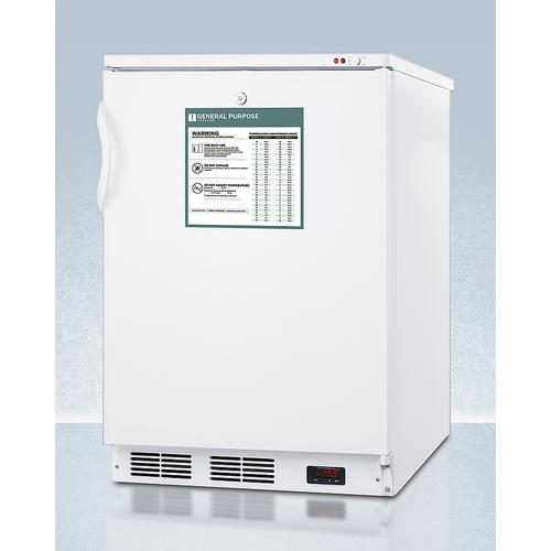 Freestanding Medical General Purpose All-freezer Capable of -25 C Operation With Front-mounted Lock