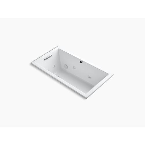 "Ice Grey 60"" X 32"" Heated Whirlpool Bath With Reversible Drain"