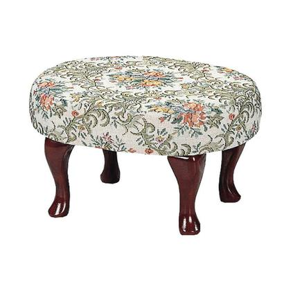 See Details - Traditional Floral Foot Stool