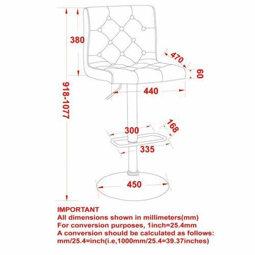 Worldwide Homefurnishings - Dex Air Lift Stool, set of 2 in Beige