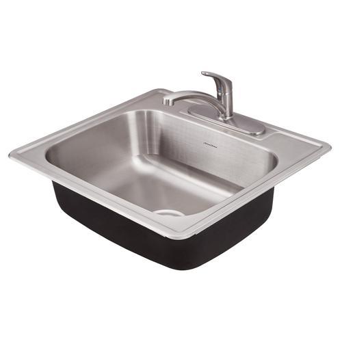American Standard - Colony ADA 25x22 Single Bowl Kitchen Sink Kit  American Standard - Stainless Steel