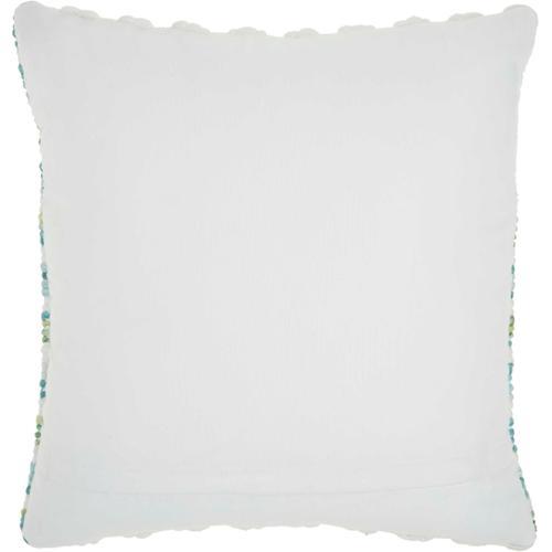"Outdoor Pillows Sh409 Turqois Green 18"" X 18"" Throw Pillow"