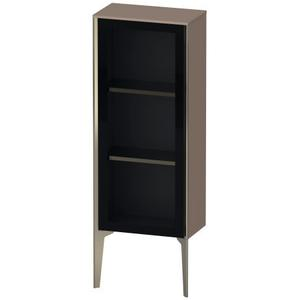 Semi-tall Cabinet With Mirror Door Floorstanding, Cappuccino High Gloss (lacquer)
