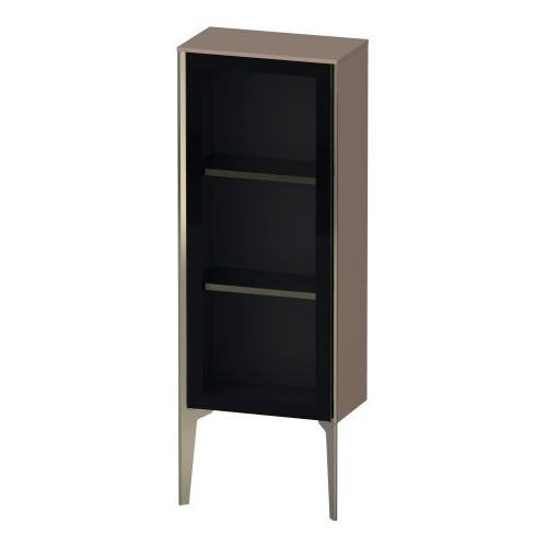 Duravit - Semi-tall Cabinet With Mirror Door Floorstanding, Cappuccino High Gloss (lacquer)