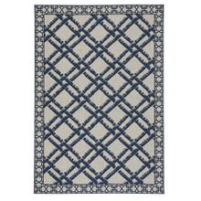 Finesse-Bamboo Trellis Navy Machine Woven Rugs