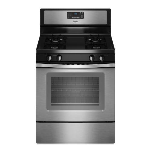 Whirlpool - 5.0 cu. ft. Capacity Gas Range with AccuBake® Temperature Management System