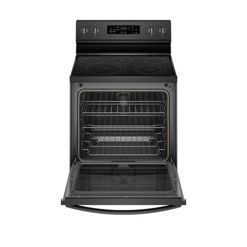 Gallery - 6.4 cu. ft. Freestanding Electric Range with Frozen Bake™ Technology Black