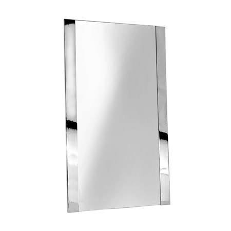 "Polished Chrome 20"" x 34"" Framed Mirror"