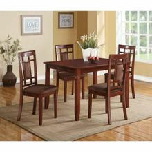 ACME Sonata 5Pc Pack Dining Set - 71164 - Cherry & Chocolate Microfiber