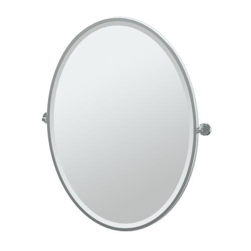 Latitude2 Framed Oval Mirror in Matte Black