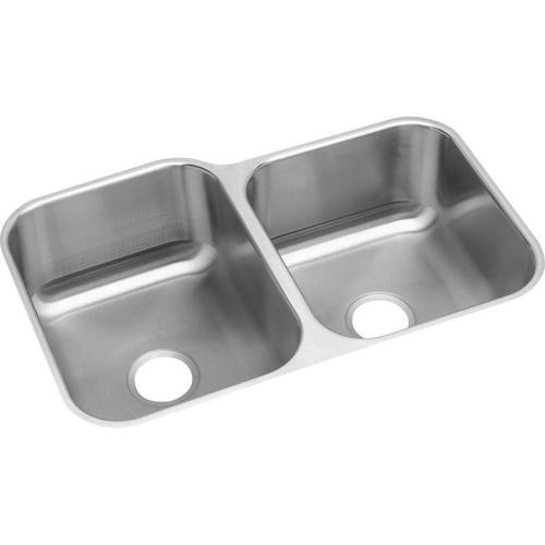"""Elkay Stainless Steel 31-3/4"""" x 20-1/2"""" x 9"""", Offset Double Bowl Undermount Sink"""