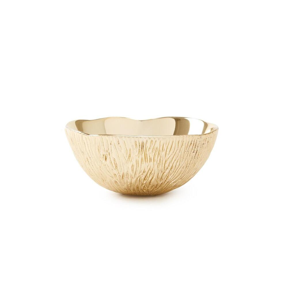 Coral Small Bowl, Brass Finish