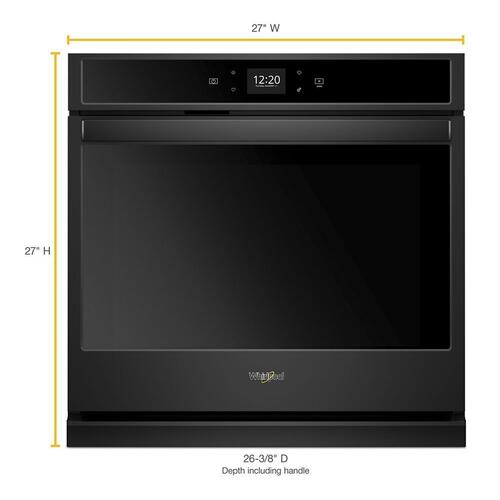 Whirlpool - 4.3 cu. ft. Smart Single Wall Oven with Touchscreen