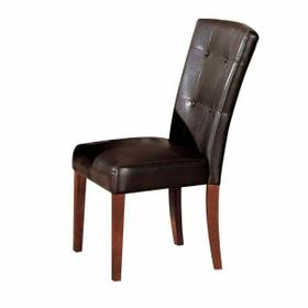 ACME Bologna Side Chair (Set-2) - 07046 - Espresso PU & Brown Cherry