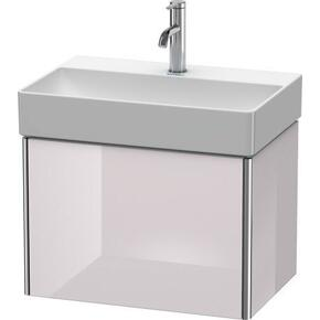 Vanity Unit Wall-mounted Compact, White Lilac High Gloss (lacquer)