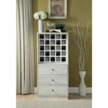 ACME Wiesta Wine Cabinet - 97544 - Antique White