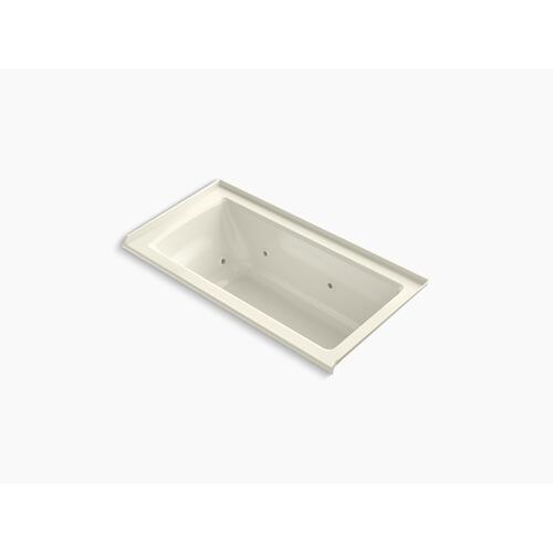 """Biscuit 60"""" X 30"""" Alcove Whirlpool With Integral Flange and Right-hand Drain"""