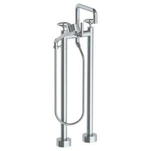 Floor Standing Square Bath Set With Volume Hand Shower