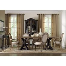 View Product - Rectangle Pedestal Dining Top With 2-20in Leaves