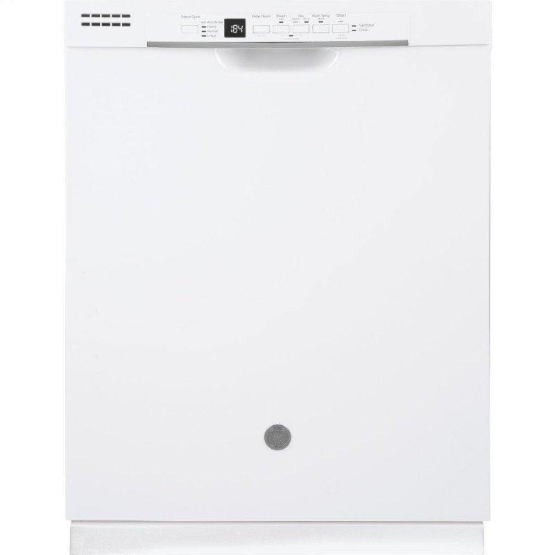 ®Front Control with Plastic Interior Dishwasher with Sanitize Cycle & Dry Boost