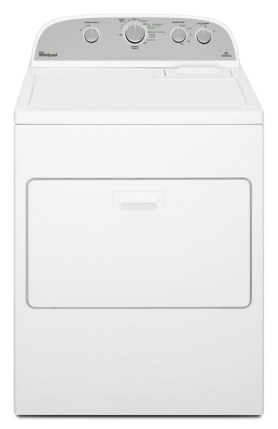 Whirlpool7.0 Cu.Ft Top Load Gas Dryer With Wrinkle Shield Plus White
