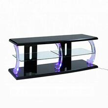 ACME Aileen TV Stand (LED) - 91560 - Black & Clear Glass